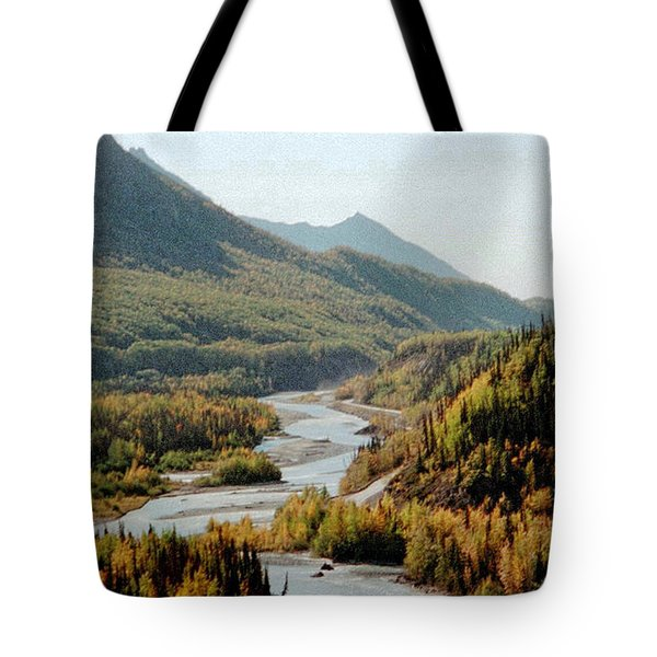 September Morning In Alaska Tote Bag by Denyse Duhaime