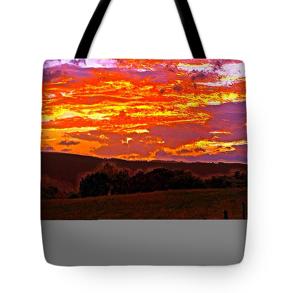 September Smokies Sunrise Tote Bag