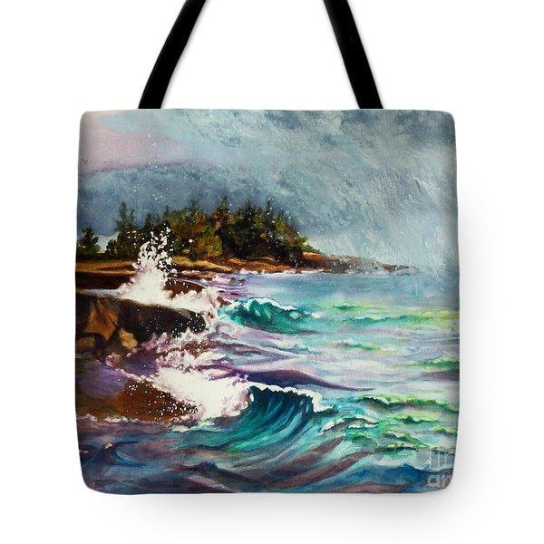 September Storm Lake Superior Tote Bag by Kathy Braud