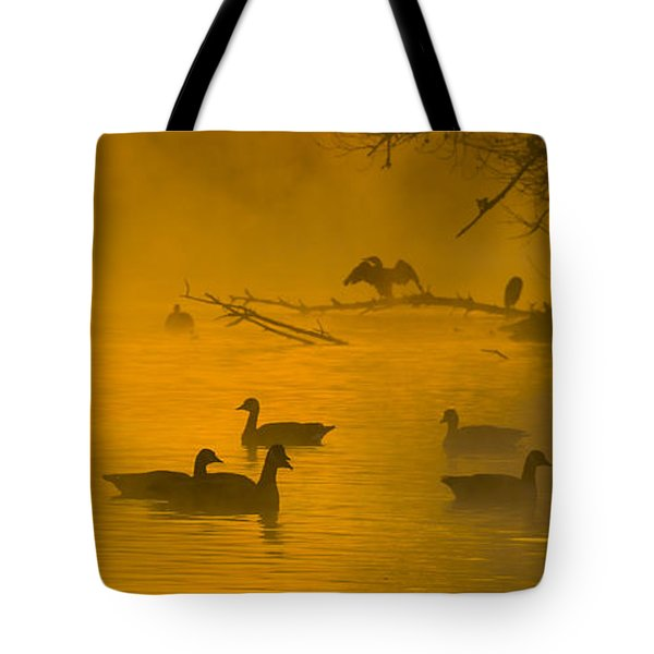 Sepulveda Dam Morning Tote Bag