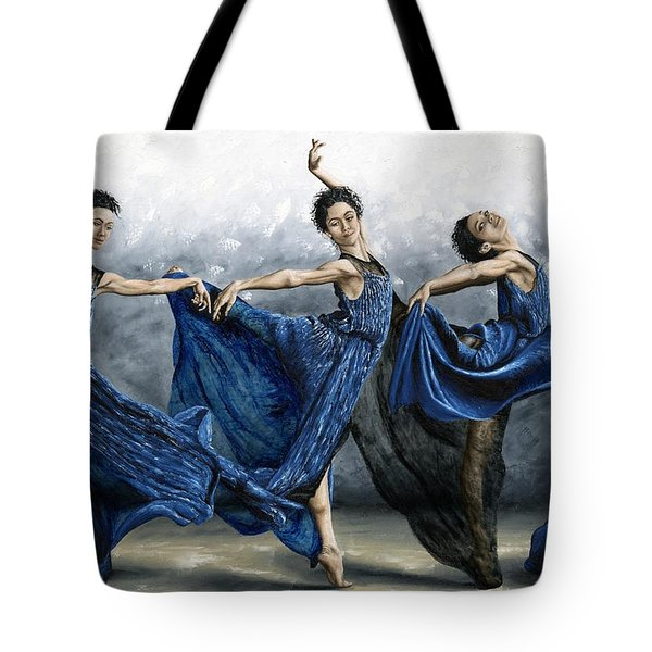 Sequential Dancer Tote Bag by Richard Young