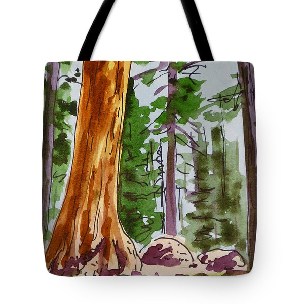 Sequoia Park - California Sketchbook Project  Tote Bag by Irina Sztukowski