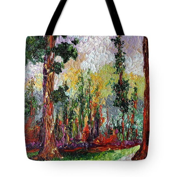 Sequoia Path National Parks  Tote Bag