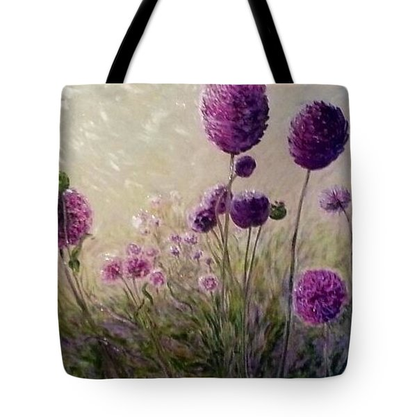 Tote Bag featuring the painting Seraph's Garden by J Reynolds Dail