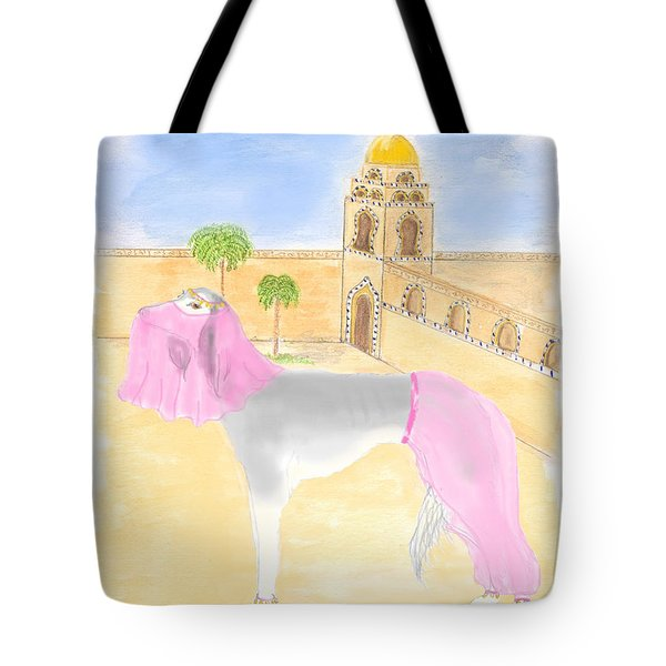 Tote Bag featuring the painting Serena All Set For Arabian Nights by Stephanie Grant