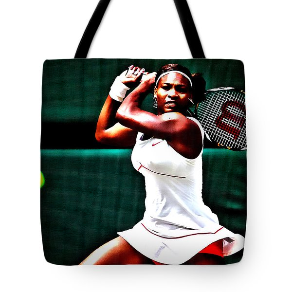 Serena Williams 3a Tote Bag by Brian Reaves
