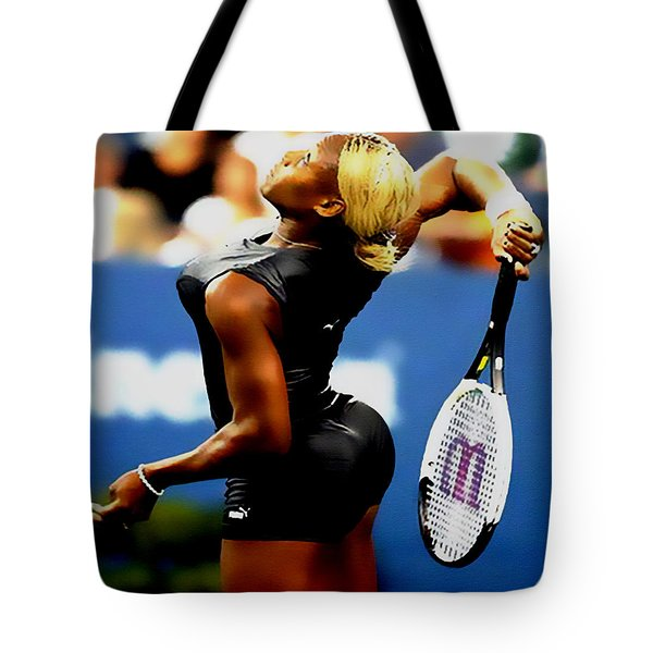 Serena Williams Catsuit II Tote Bag by Brian Reaves