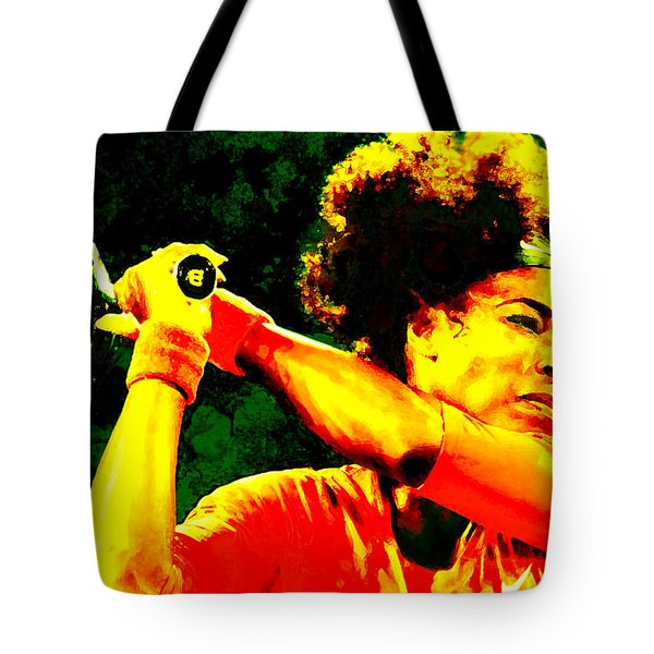 Serena Williams In A Zone Tote Bag by Brian Reaves