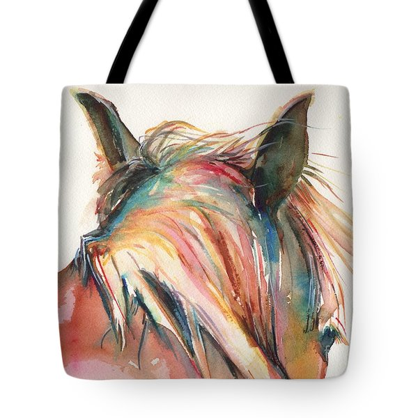 Horse Painting In Watercolor Serendipity Tote Bag