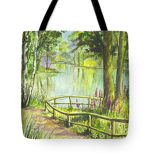 Tote Bag featuring the painting Serendipity Stroll by Carol Wisniewski