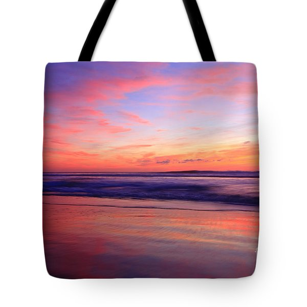 Serene Oceanside Glow Tote Bag