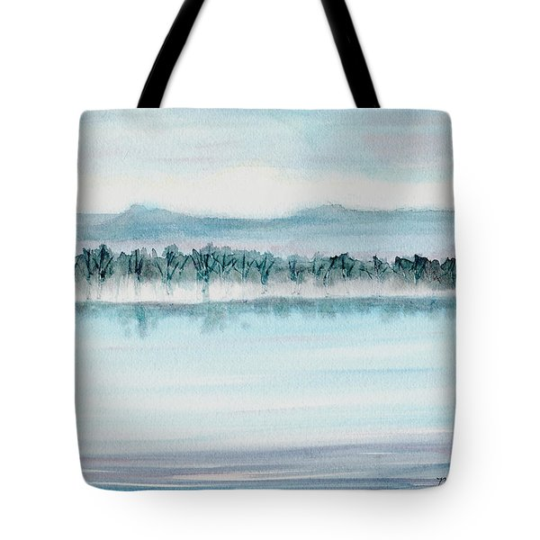 Serene Lake View Tote Bag by Mickey Krause