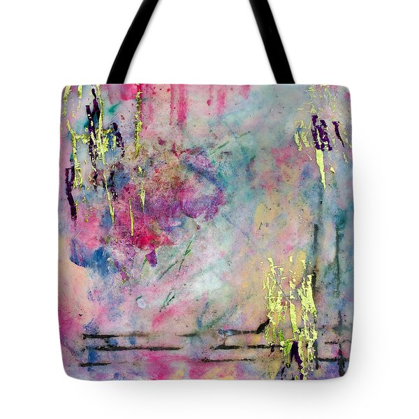 Serene Mist Encaustic Tote Bag