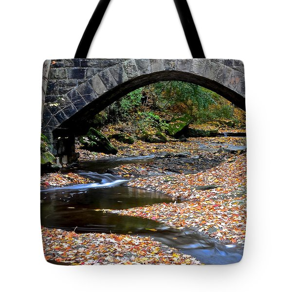 Serene Stream Tote Bag by Frozen in Time Fine Art Photography