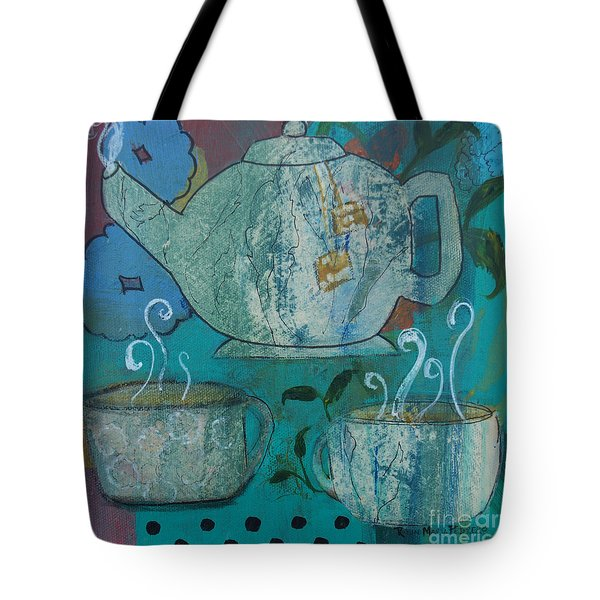 Serene Tea Tote Bag by Robin Maria Pedrero