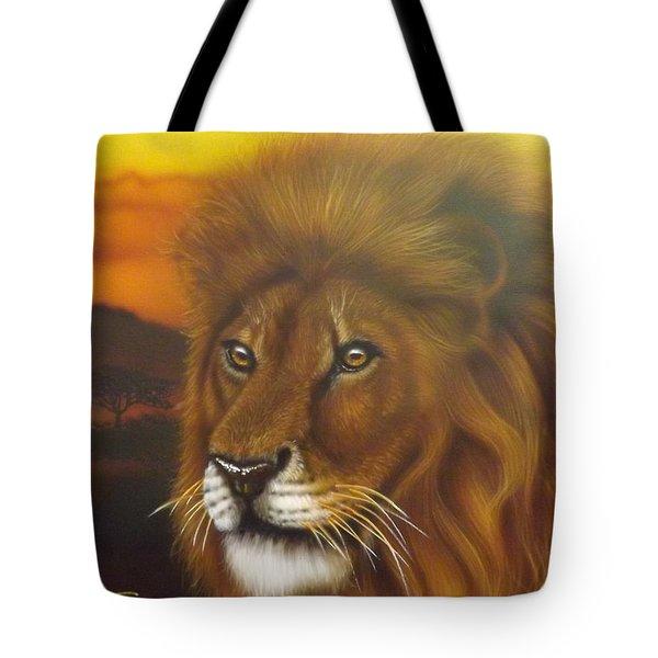 Serengeti King Tote Bag by Darren Robinson