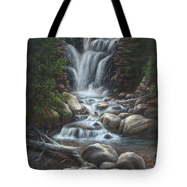 Tote Bag featuring the painting Serenity by Kim Lockman