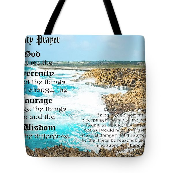 Serenity Prayer For Turbulent Times Tote Bag