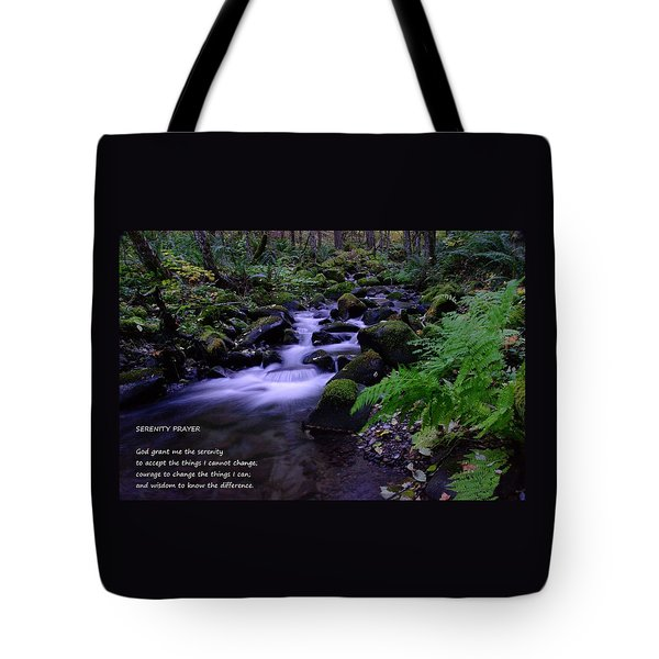 Serenity Prayer  Tote Bag by Jeff Swan