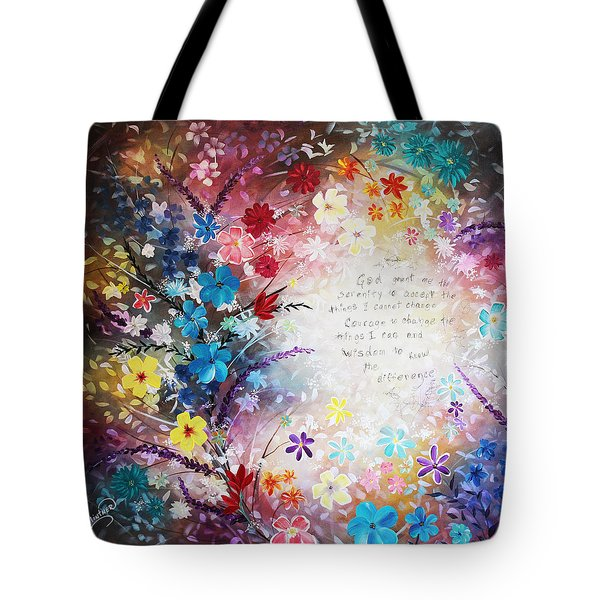 Tote Bag featuring the painting Serenity Prayer by Patricia Lintner