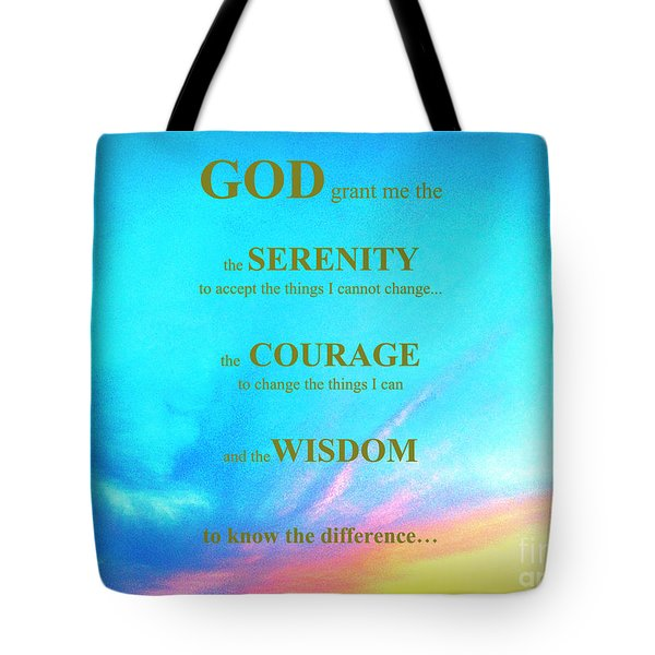 Tote Bag featuring the painting Serenity Prayer by Shelia Kempf