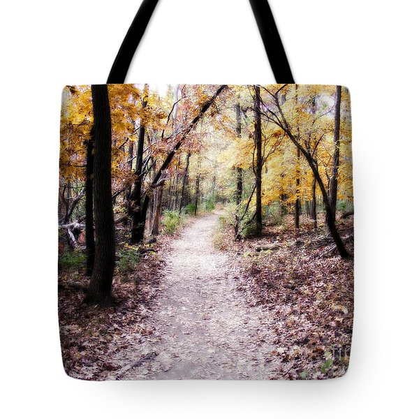 Tote Bag featuring the photograph Serenity Walk In The Woods by Peggy Franz