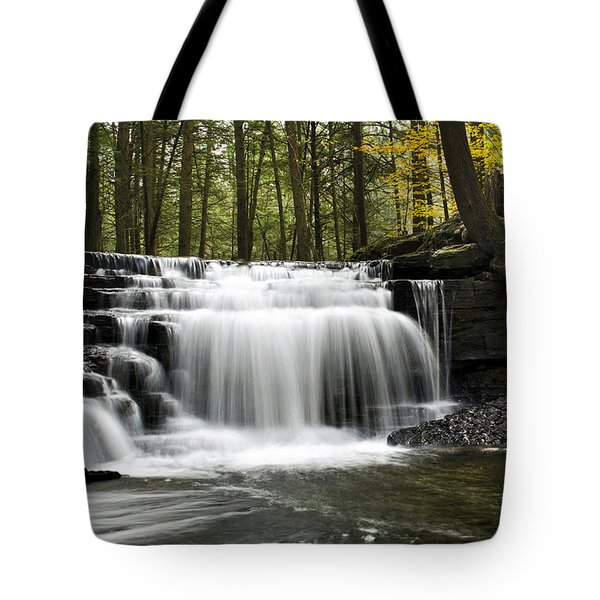 Serenity Waterfalls Landscape Tote Bag by Christina Rollo