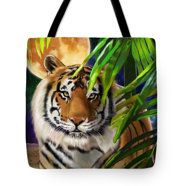 Second In The Big Cat Series - Tiger Tote Bag