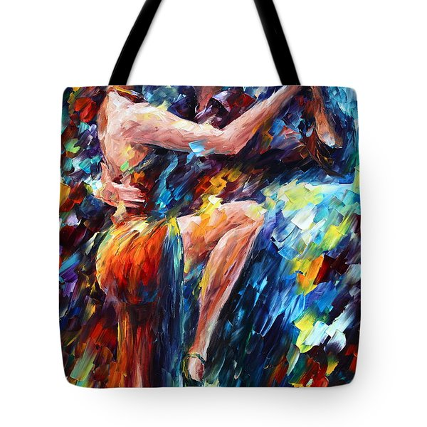 Serious Tango Tote Bag by Leonid Afremov
