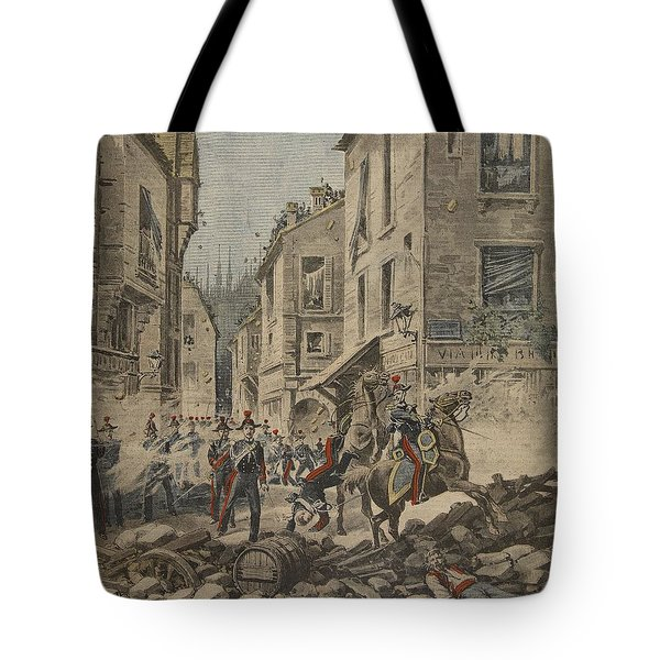 Serious Troubles In Italy Riots Tote Bag by French School