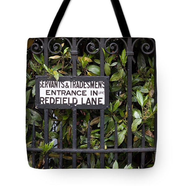 Servant And Tradesman Sign London  Tote Bag by Thomas Marchessault