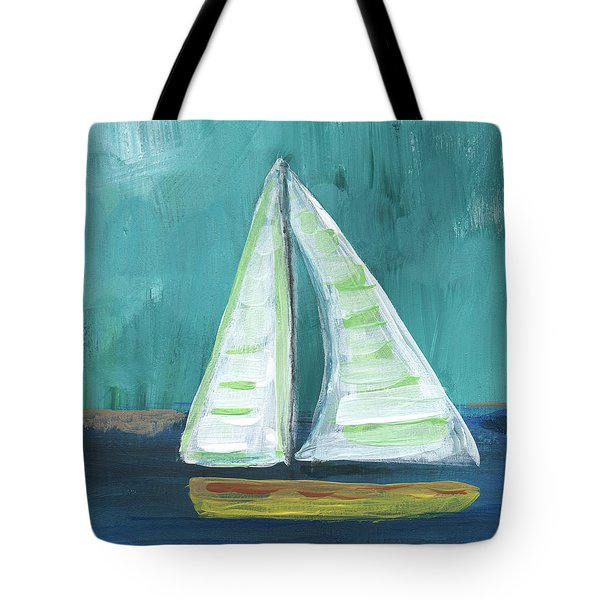 Set Free- Sailboat Painting Tote Bag