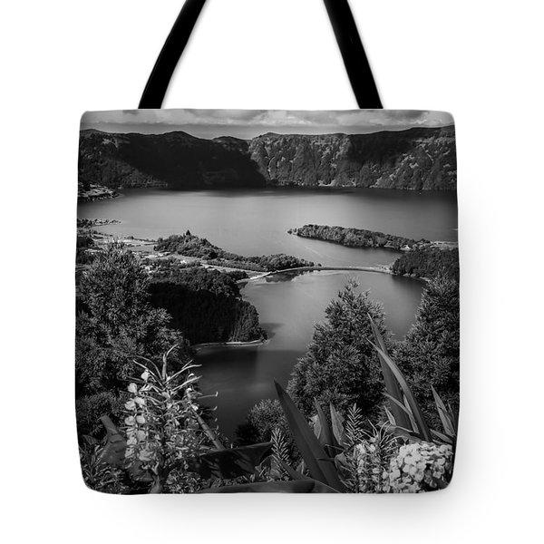 Sete Cidades Lake Tote Bag