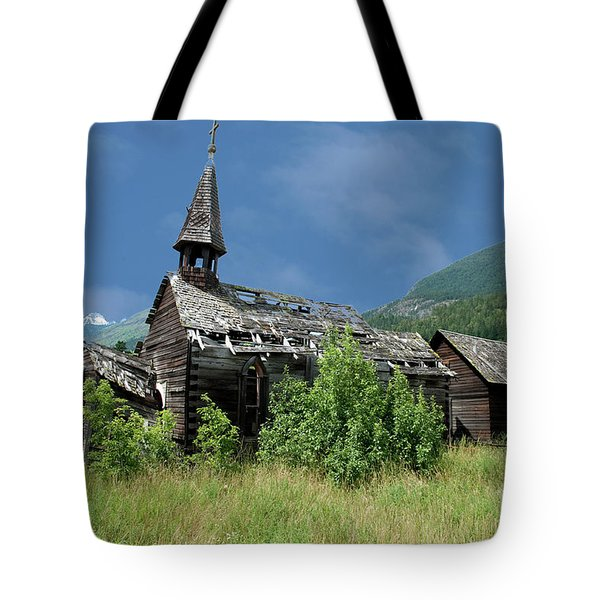 Tote Bag featuring the photograph Seton Portage Church by Rod Wiens