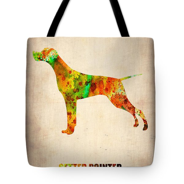 Setter Pointer Poster Tote Bag by Naxart Studio