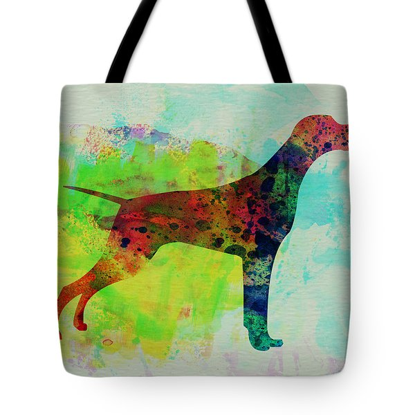 Setter Pointer Watercolor Tote Bag by Naxart Studio