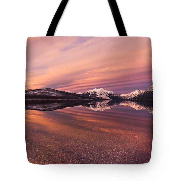 Setting On Glacier Tote Bag