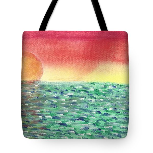 Setting Sea Tote Bag