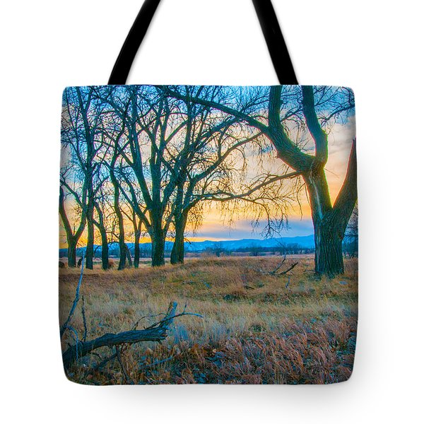 Setting Sun At Rocky Mountain Arsenal_1 Tote Bag