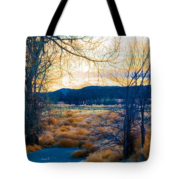Setting Sun At Rocky Mountain Arsenal_2 Tote Bag