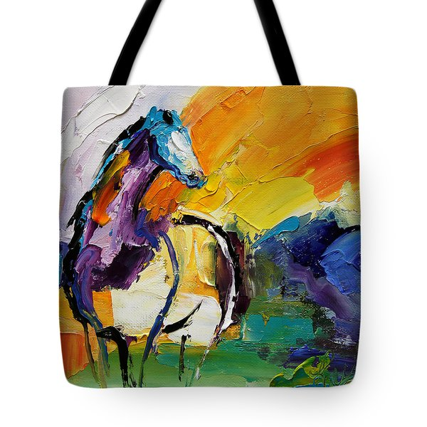 Settled In Horse 5 2014 Tote Bag