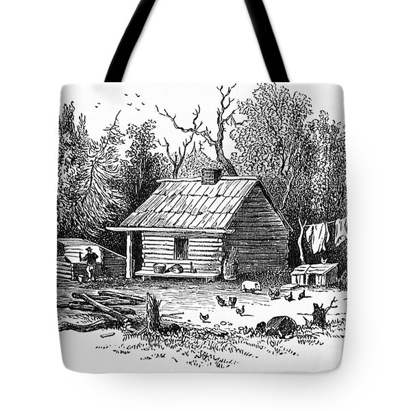 Settler's Log Cabin - 1878 Tote Bag