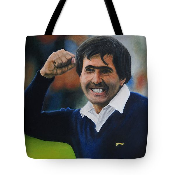 Seve Ballesteros Oil On Canvas Tote Bag