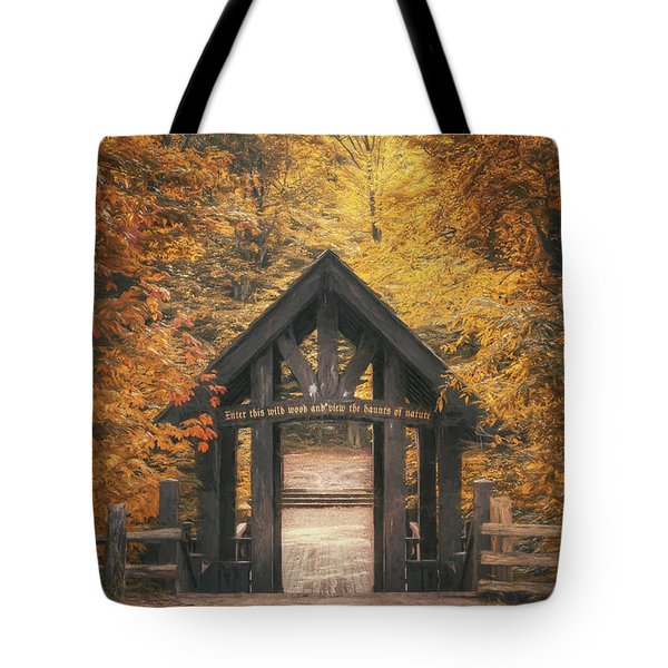 Seven Bridges Trail Head Tote Bag