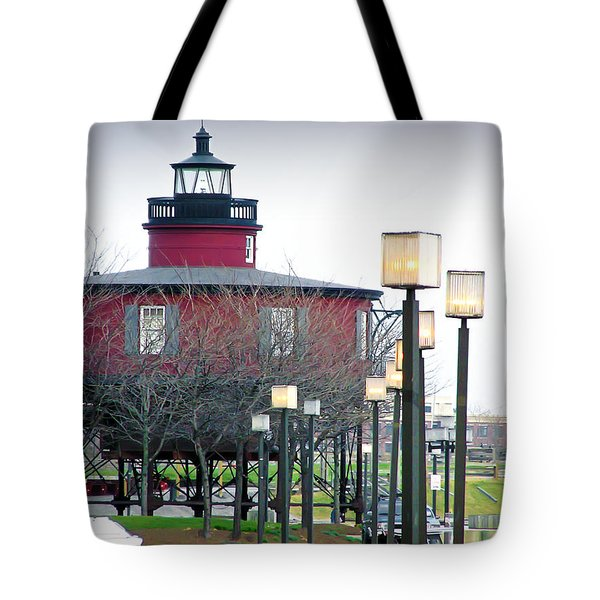 Tote Bag featuring the photograph Seven Foot Knoll Lighthouse by Brian Wallace