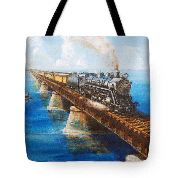 Seven Mile Bridge Tote Bag by Christopher Jenkins
