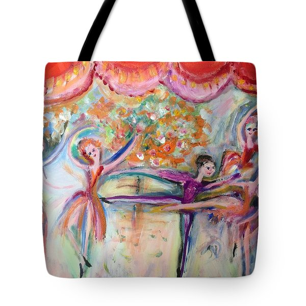 Seven O Clock Show Tote Bag by Judith Desrosiers