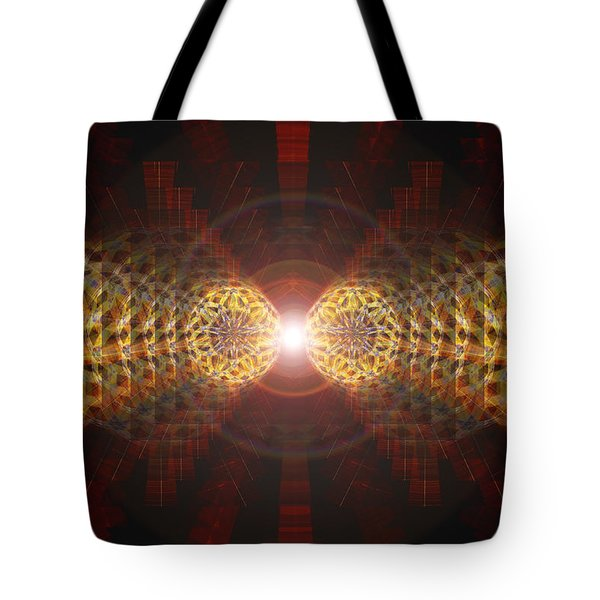 Tote Bag featuring the drawing Seven Sacred Steps Of Light by Derek Gedney