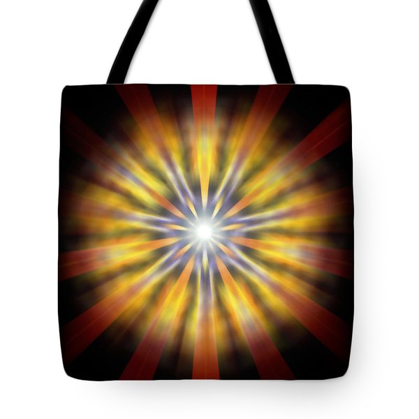 Tote Bag featuring the drawing Seven Sistars Of Light by Derek Gedney
