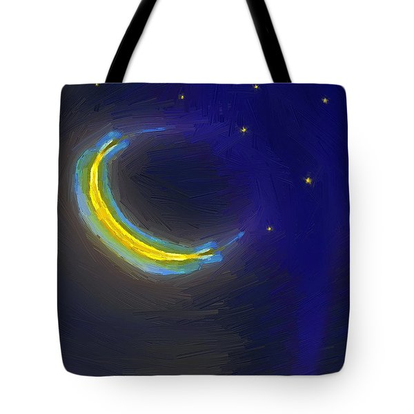 Seven Stars And The Moon Tote Bag by RC deWinter